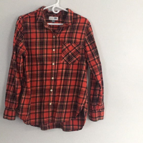 2b2240aa9 Old Navy Tops | Womens Red Flannel Shirt | Poshmark